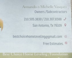 Best choice home leveling foundation repair